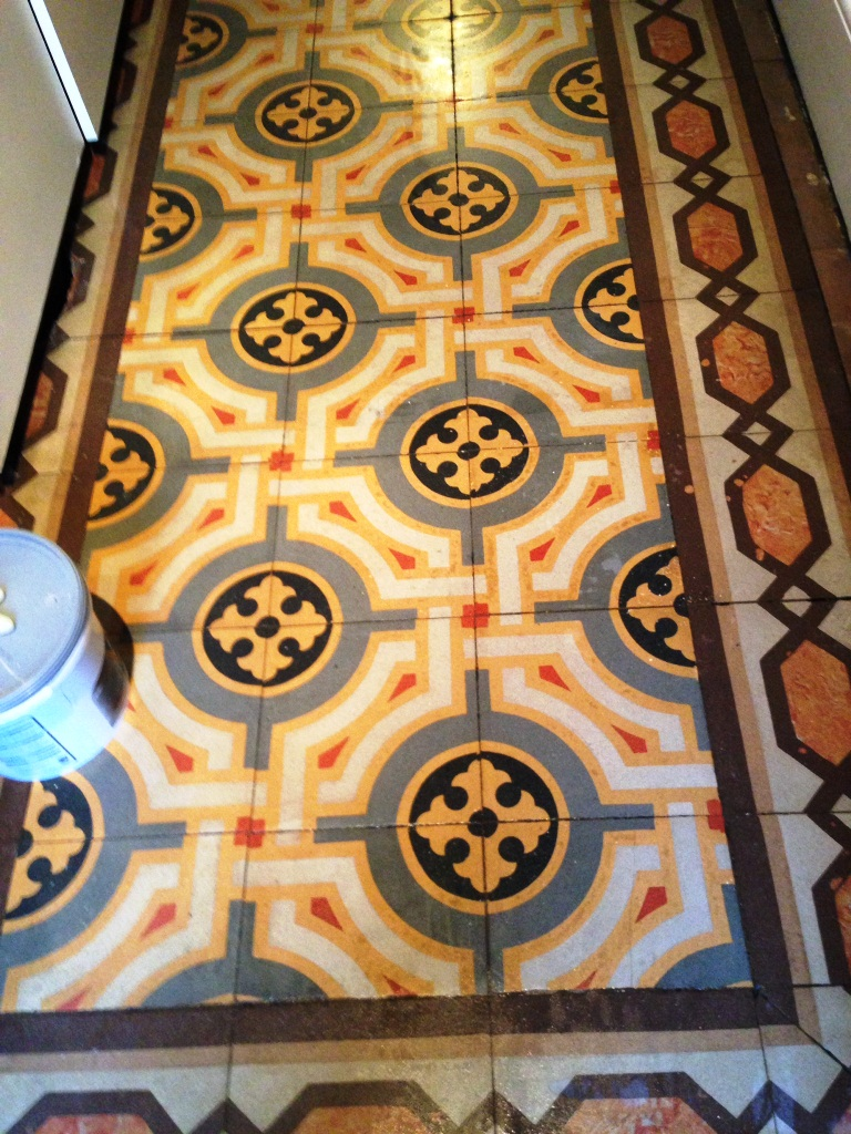 Old Encaustic Floor Fulham After Cleaning 4