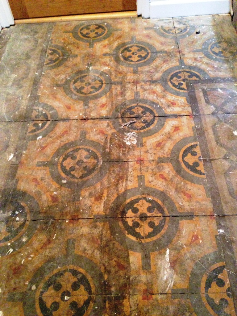 Old Encaustic Floor Fulham Before Cleaning 2