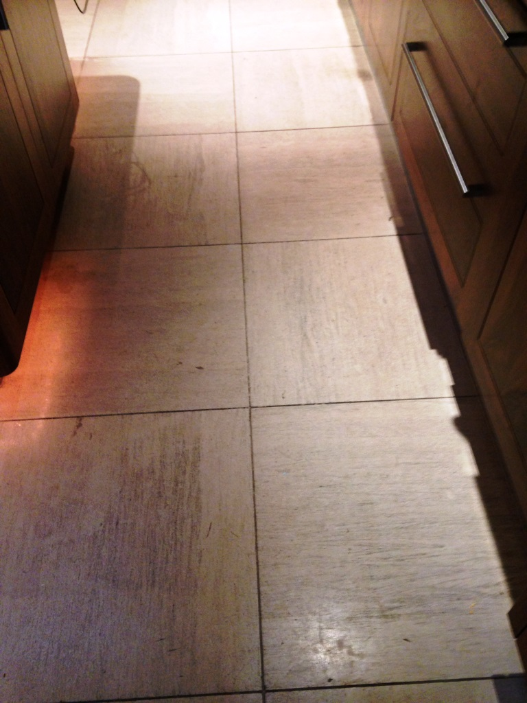 Limestone tiled floor Westminster Before Cleaning
