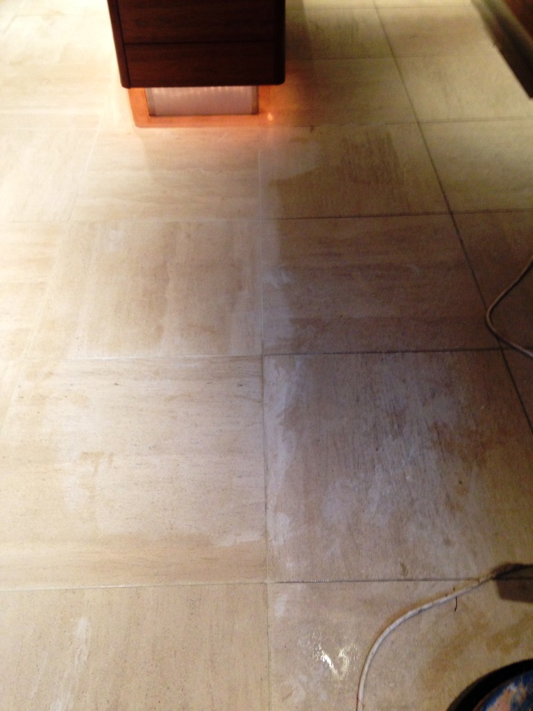 Limestone tiled floor Westminster Initial Clean