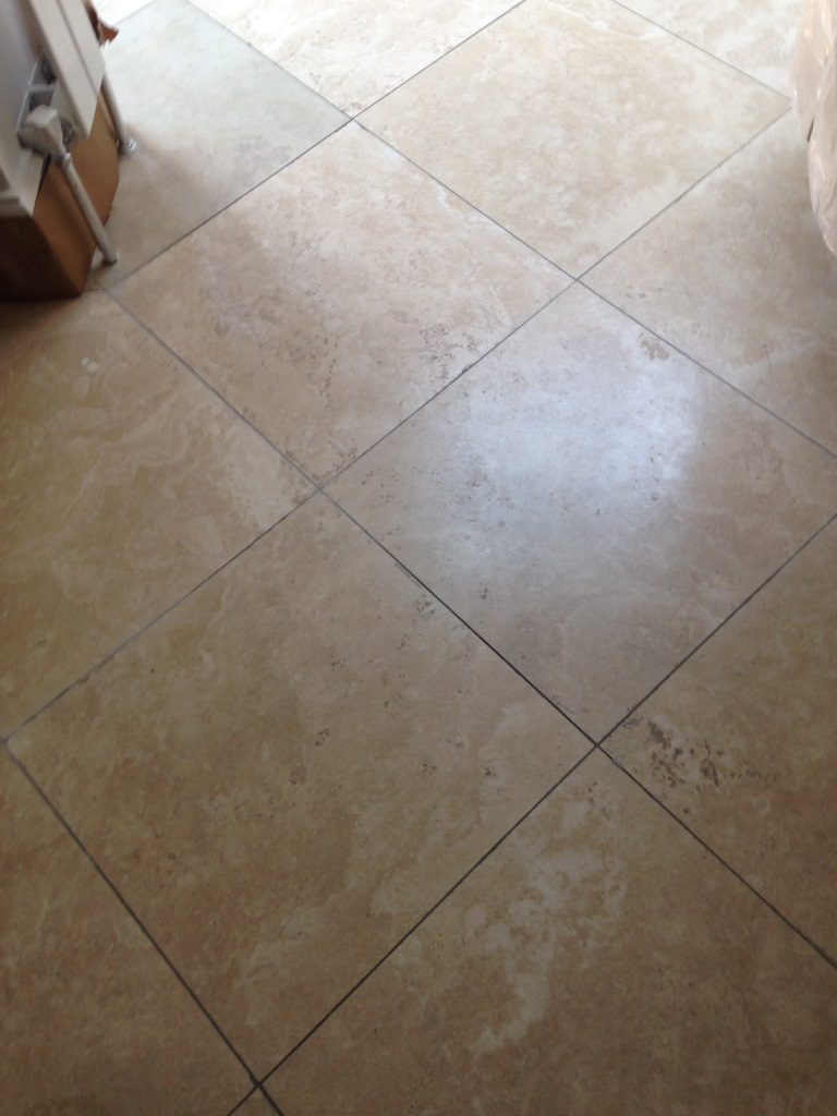 Travertine Floor Surbiton Before
