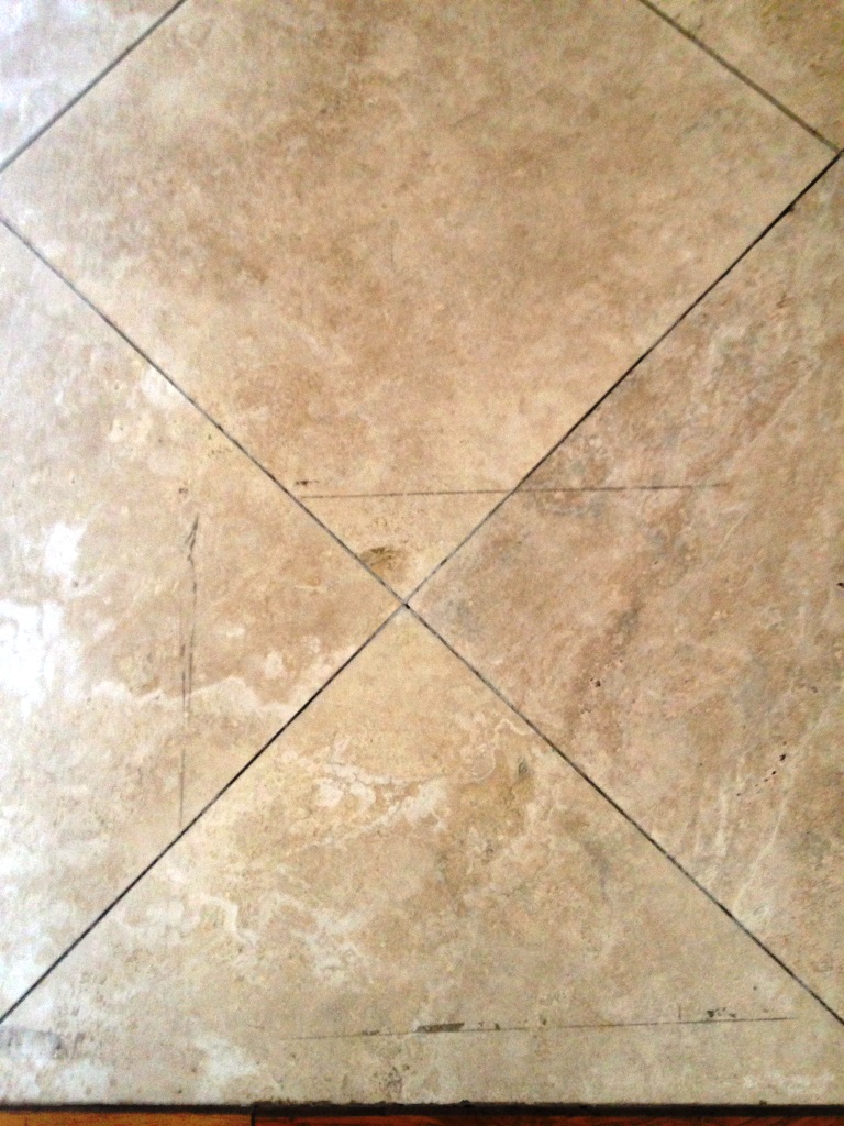Travertine Floor Surbiton Before Marked
