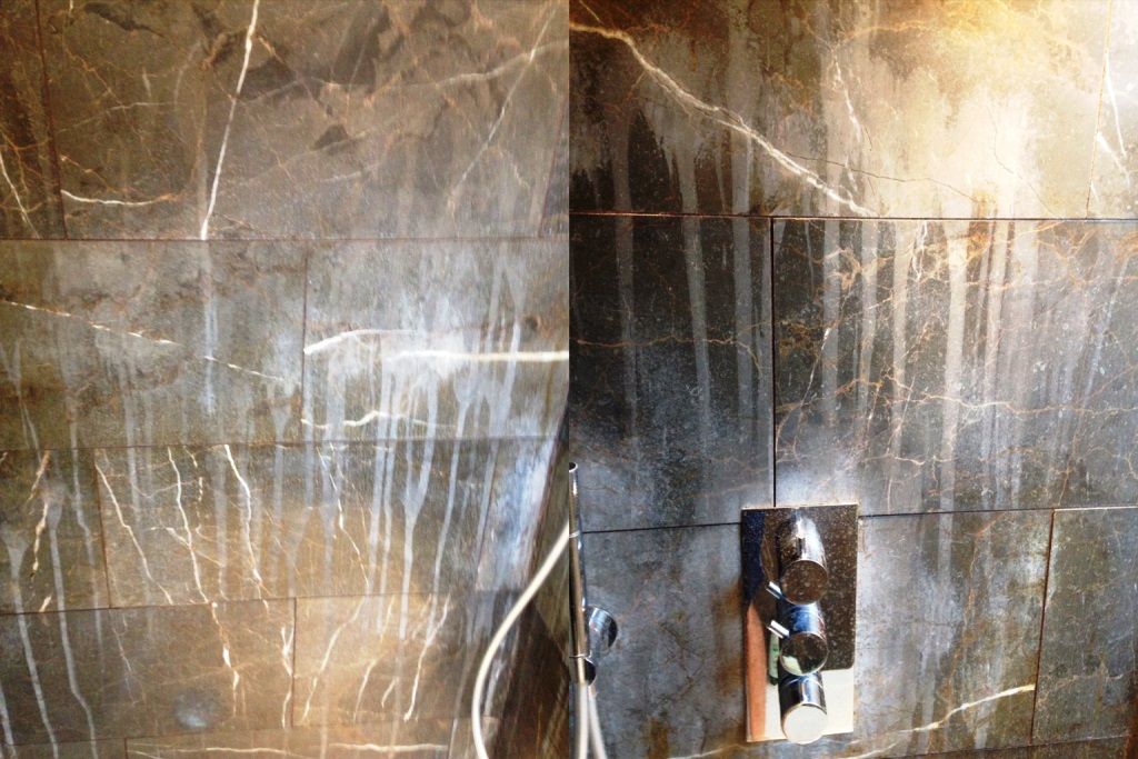 Removing Limescale from Marble Shower Tiles in Addlestone | East ...