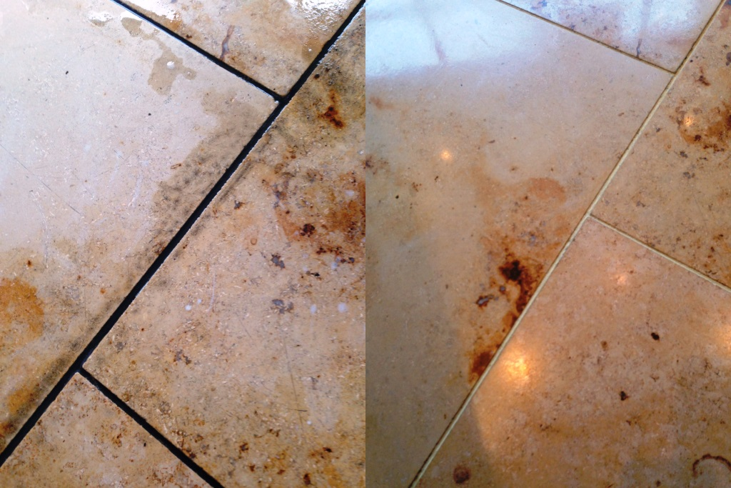 Marble Tiles Indian Restaurant South Croydon Before and After