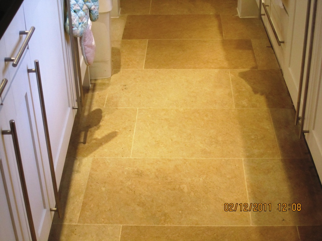 Limestone Tiled Floor After Cleaning
