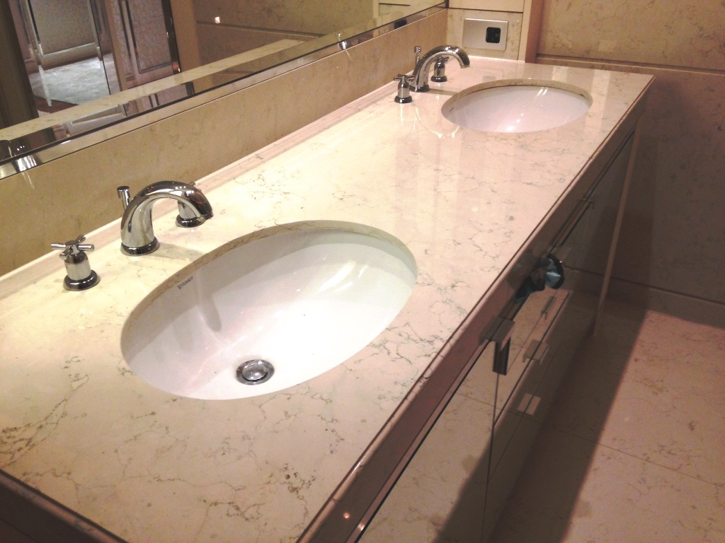 Marble tiled sink unit Westminster After Cleaning