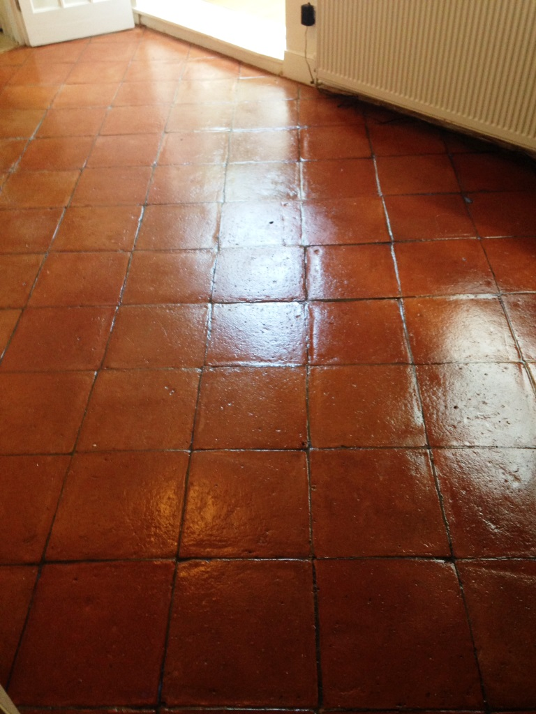 Tiled floor east surrey tile doctor terracotta tiles after sealing in battersea dailygadgetfo Images