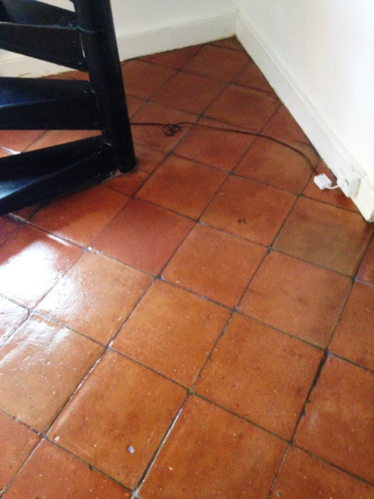 Tiled floor east surrey tile doctor terracotta tiles after sealing in battersea dailygadgetfo Choice Image