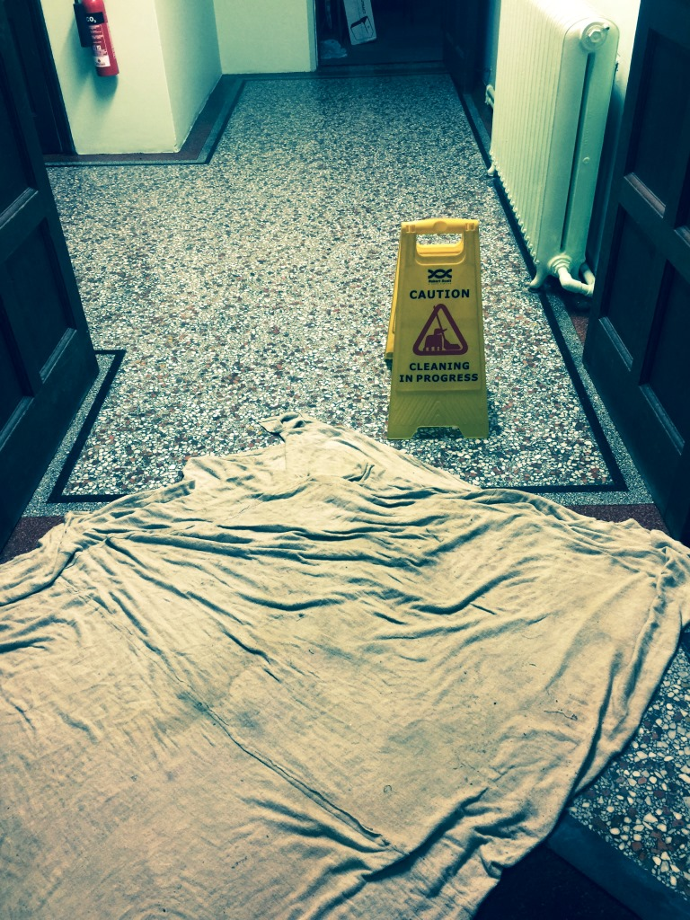 Terrazzo Flooring Redhill Church Cleaning in Progress