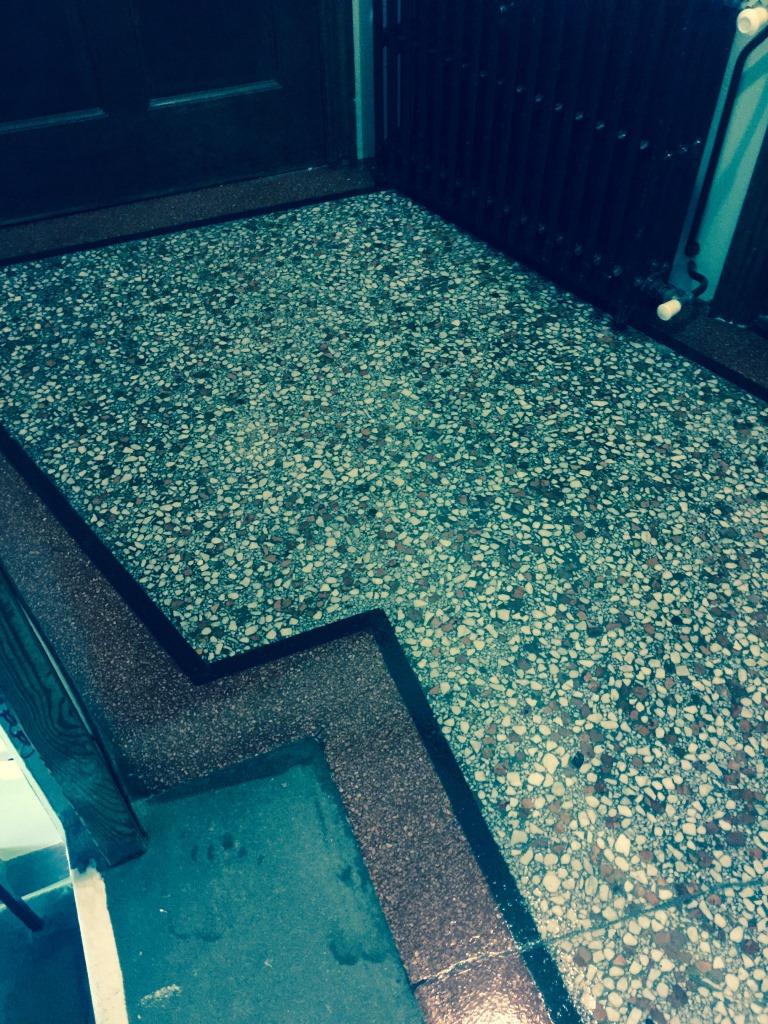 Terrazzo Flooring Redhill Church Crack Filled