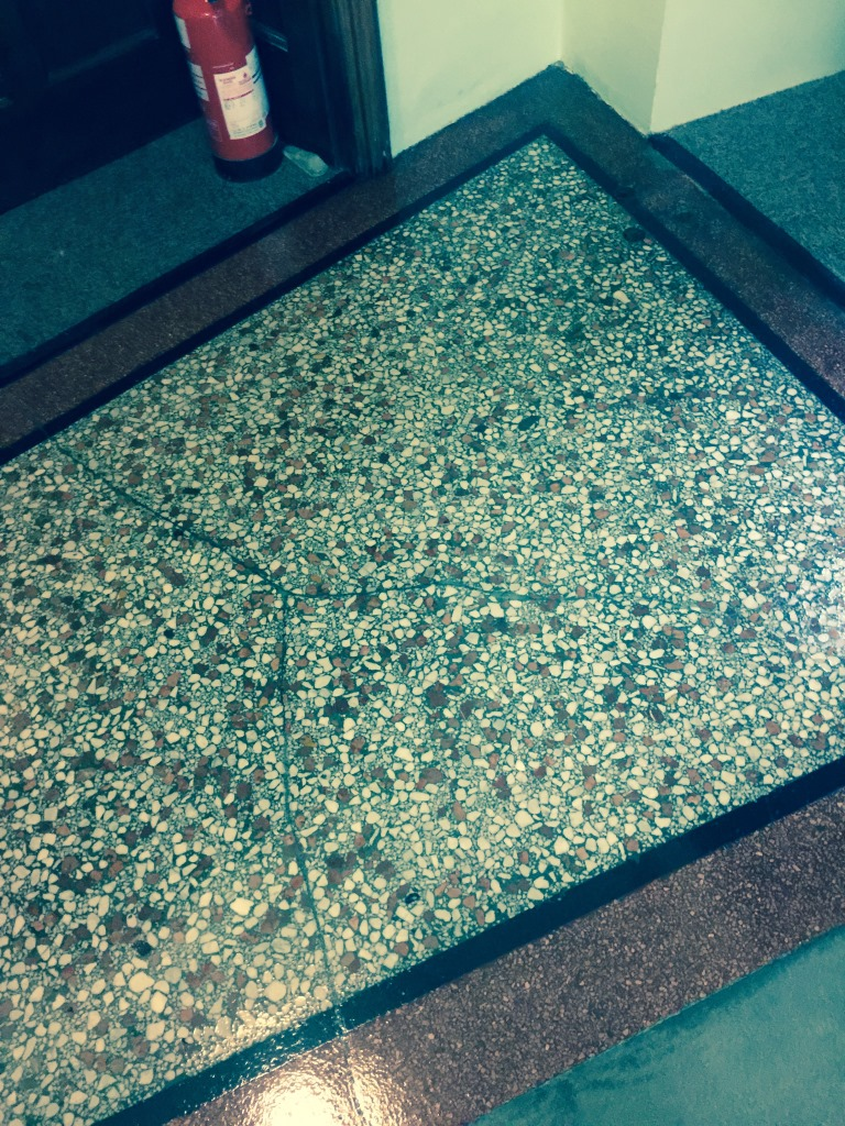 Terrazzo Flooring Redhill Church Crack Filled