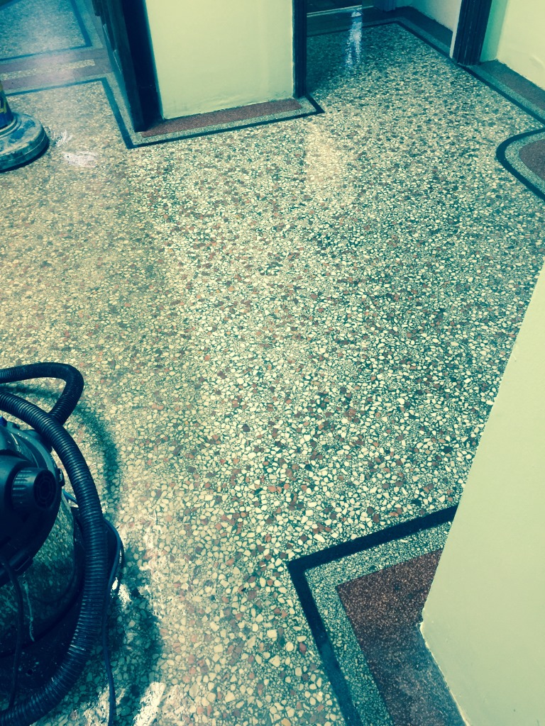Terrazzo Flooring Redhill Church Part Cleaned