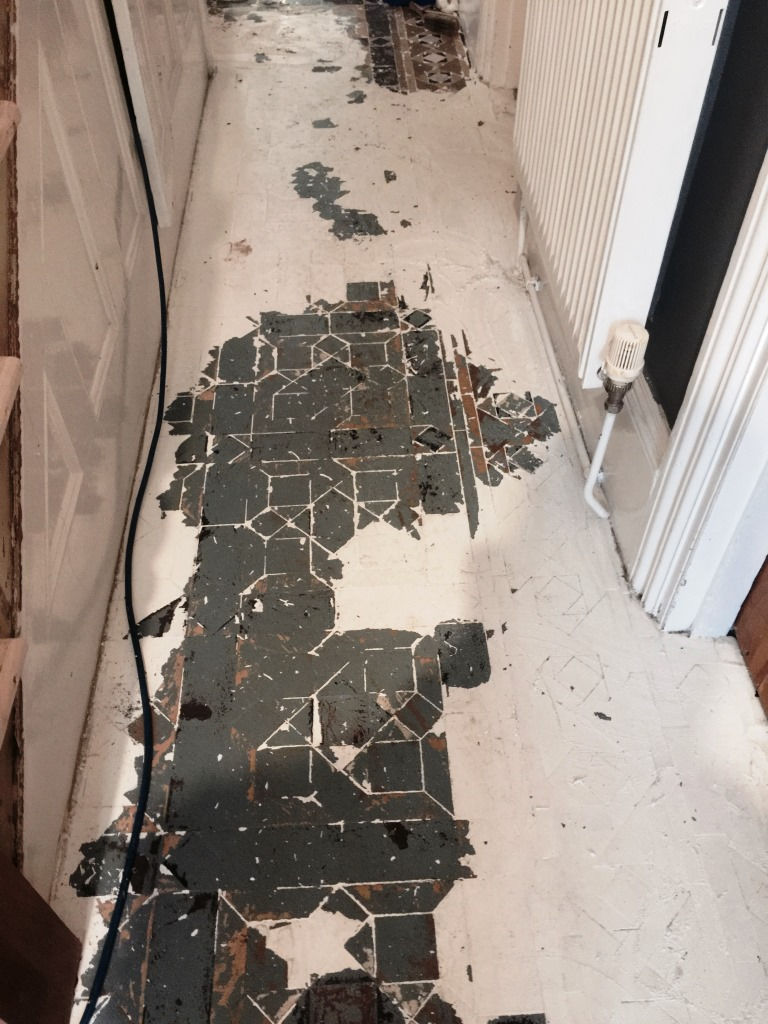 Victorian Floor Restoration Putney Before Paint Removal