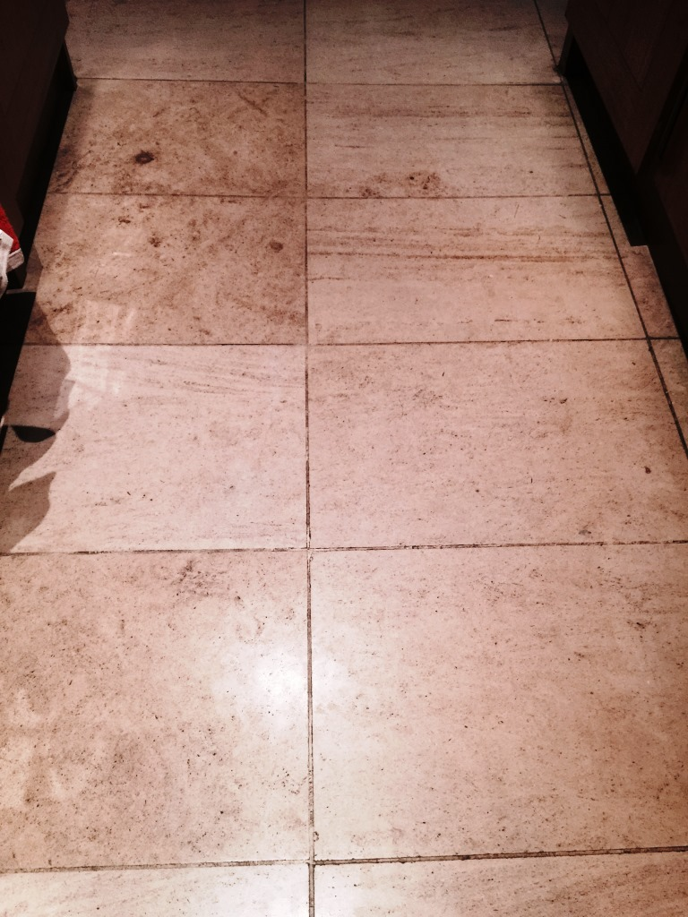 Limestone Floor Before Cleaning Wandsworth