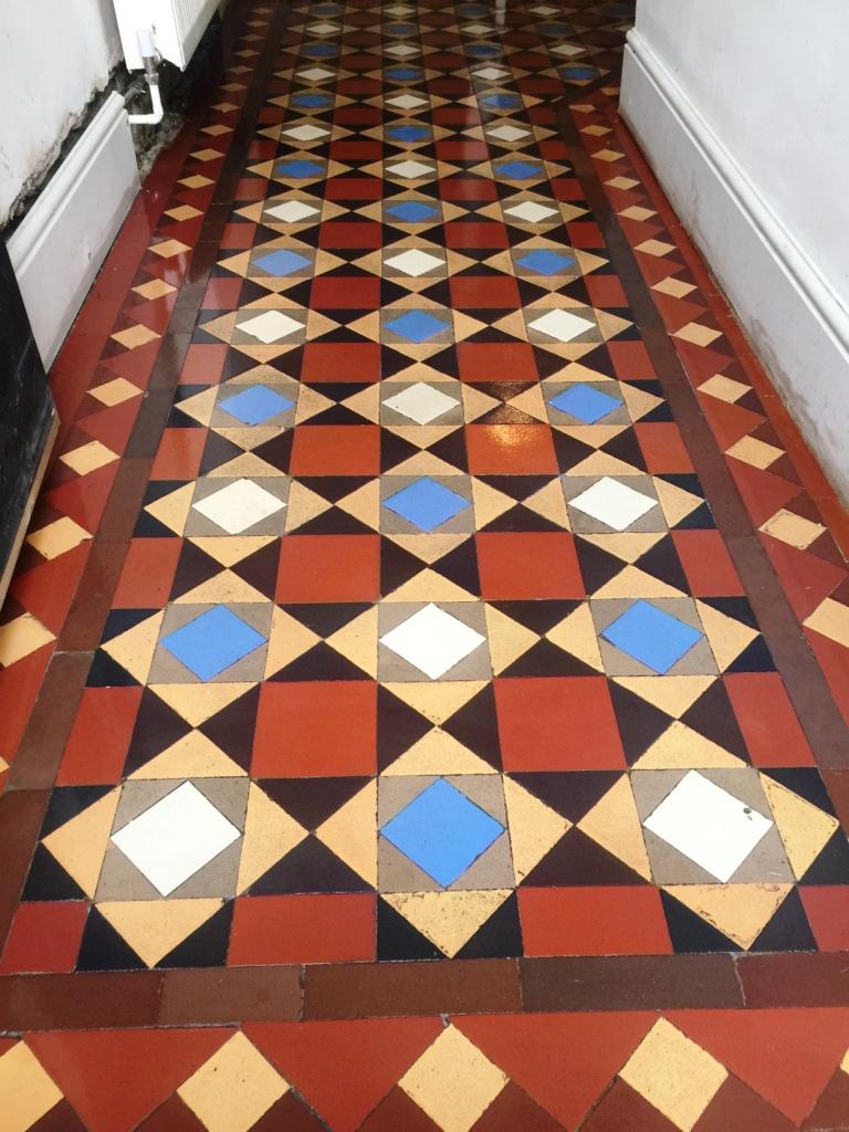 Victorian Tiled Hallway After Restoration Fulham