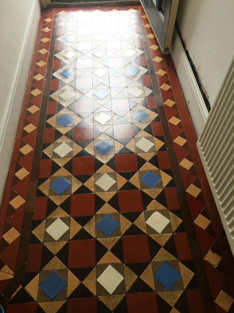 Victorian Tiled Hallway After Restoration Fulham