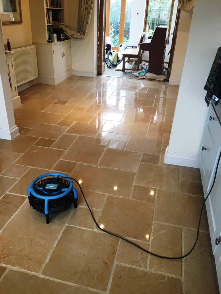 Marble Tiled Floor After Polishing Reigate