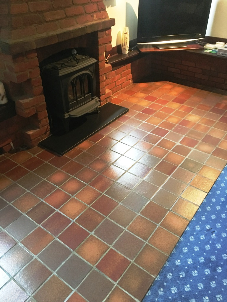 Quarry Tiled Floor After Renovation in Outwood