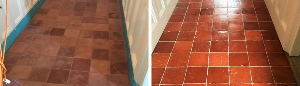 Old Clay Pamment Tiled Hallway Renovated in Lingfield