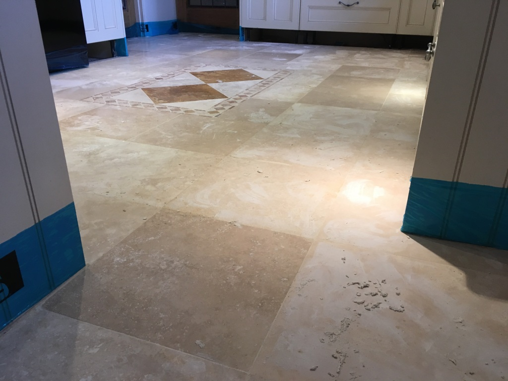 Pitted Travertine Floor After Filling Limpsfield Chart