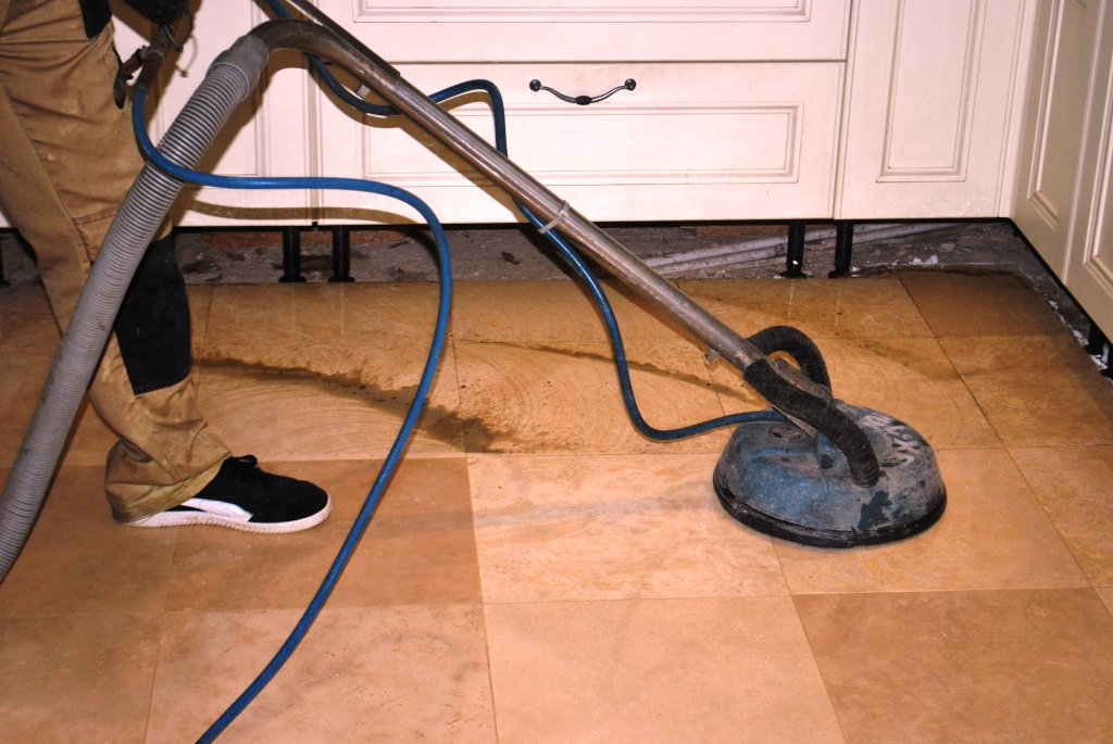 Pitted Travertine Floor During Rinsing Extracting Limpsfield Chart