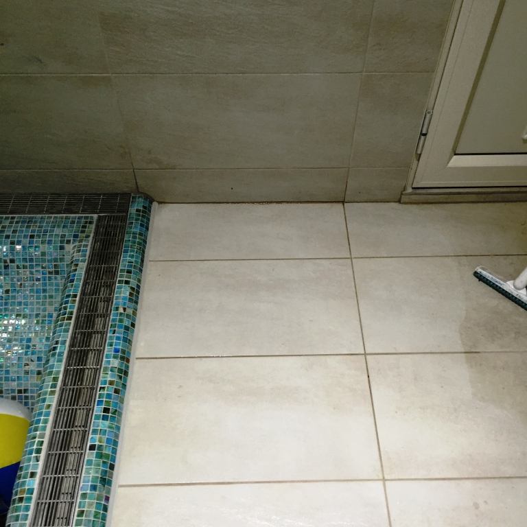 Textured Porcelain Swimming Pool Tile After Rust Removal Dorking