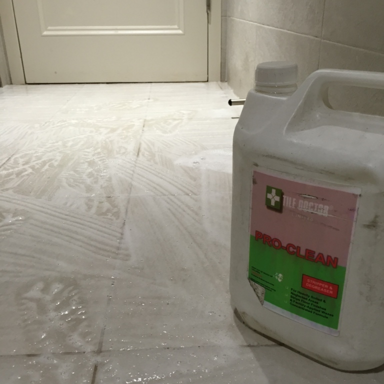 Textured Porcelain Swimming Pool Tile During Cleaning Dorking