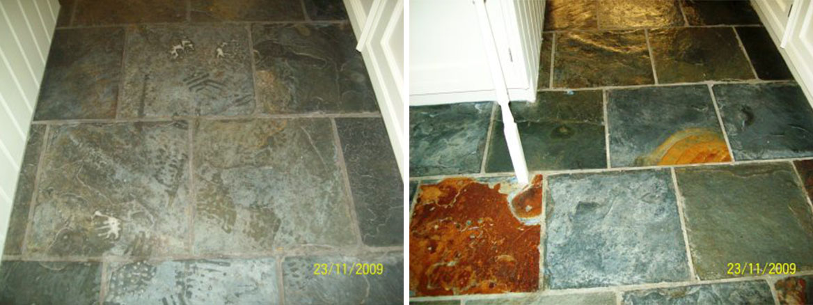 Epsom Slate Before and After