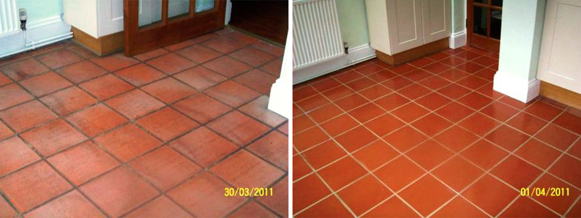Terracotta floor Before and After