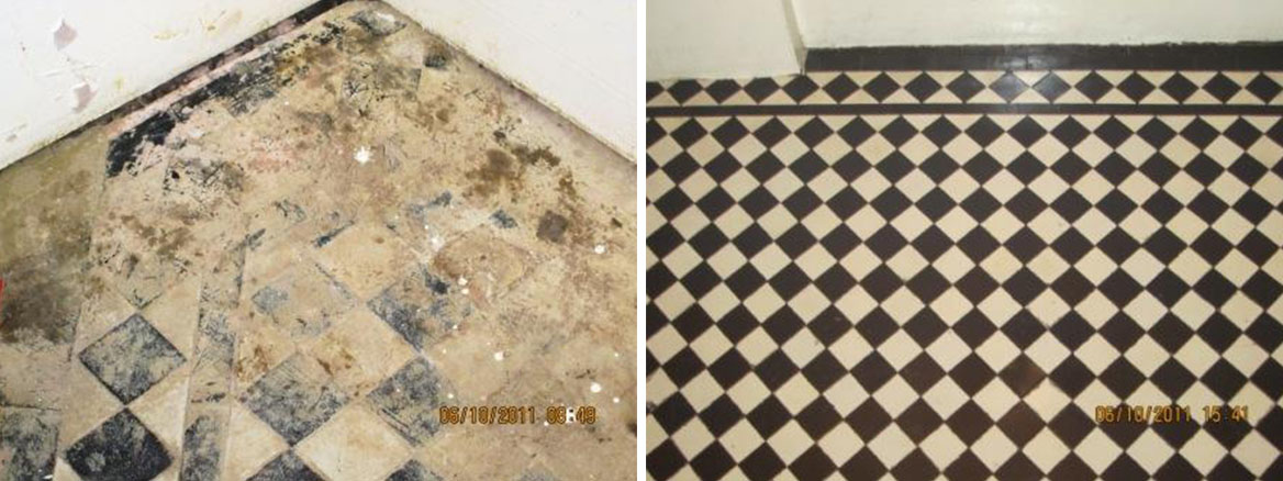 Victorian Floor Wimbledon Before and After Restoration