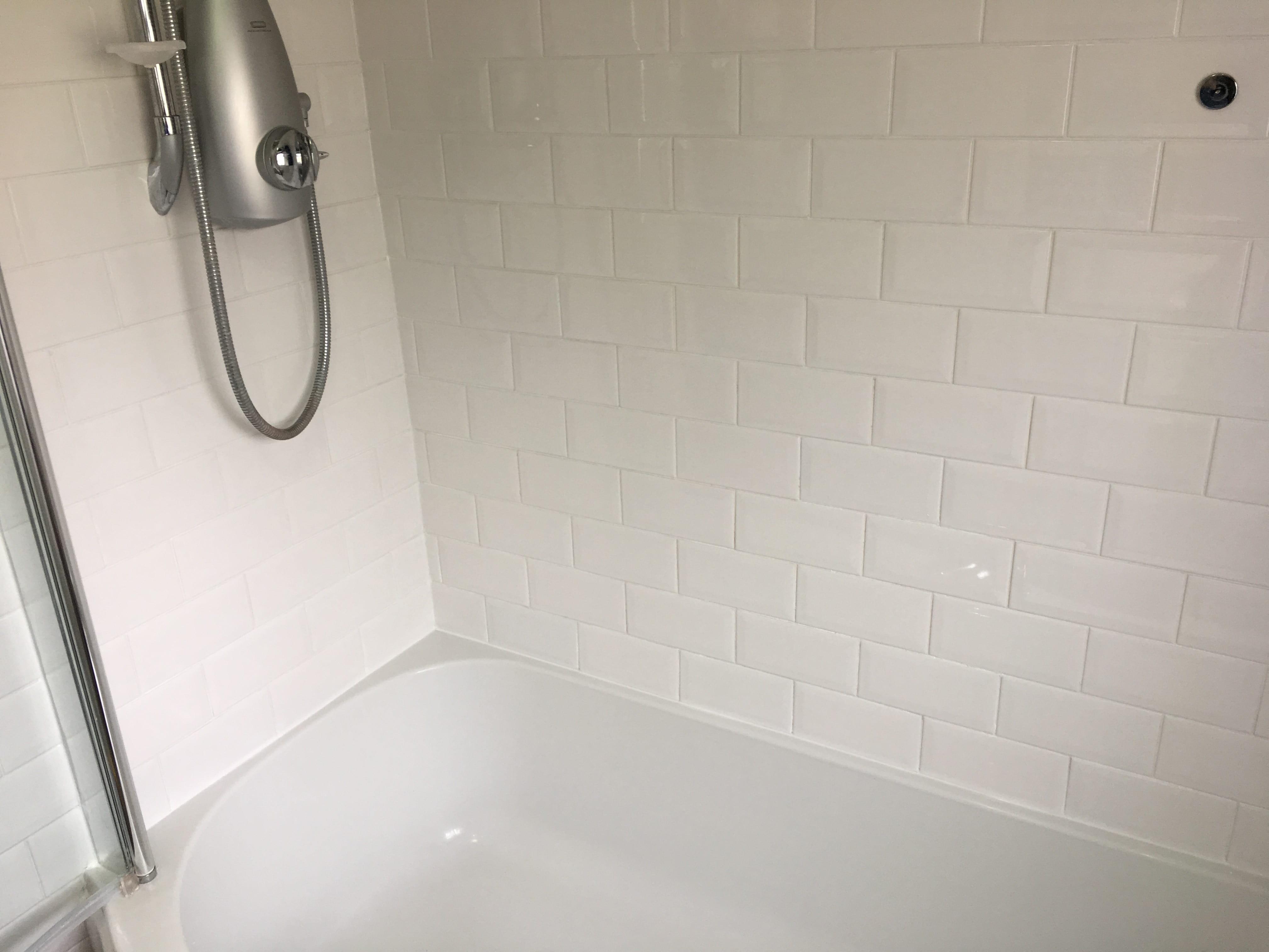 Ceramic Tiled Bathroom After Cleaining Dorking