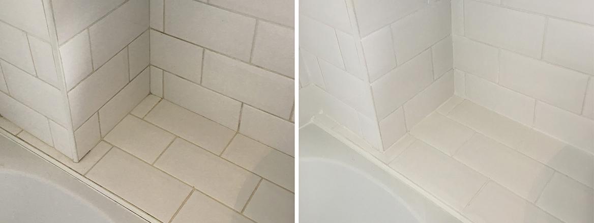 Metro Tiled Bathroom Refreshed in Dorking